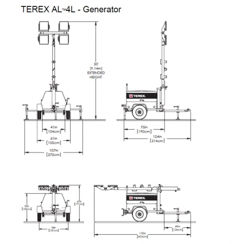 NEW Terex AL4L Generator LED Light Tower For Sale with Price