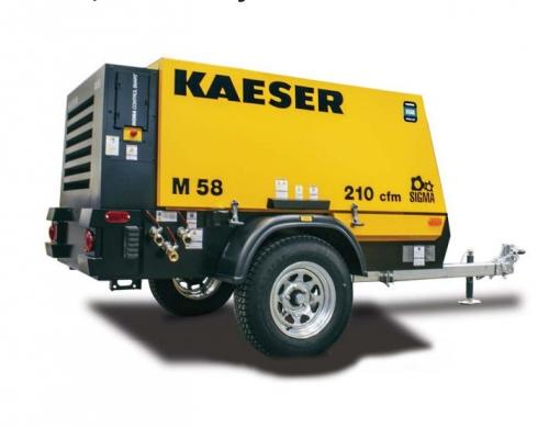 Kaeser M58 Portable Air Compressor For Sale 210 Cfm